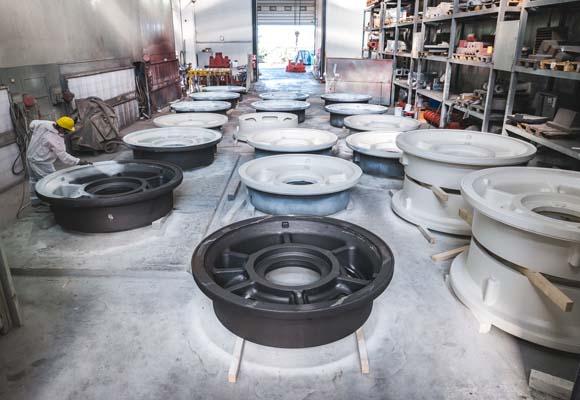 foundry ariotti paint cast iron parts 02